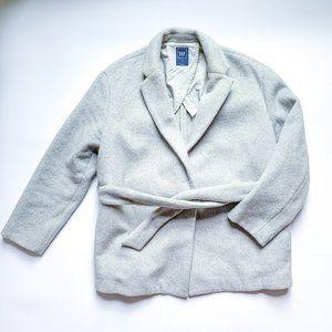 Gap Gray Belted Blazer Jacket